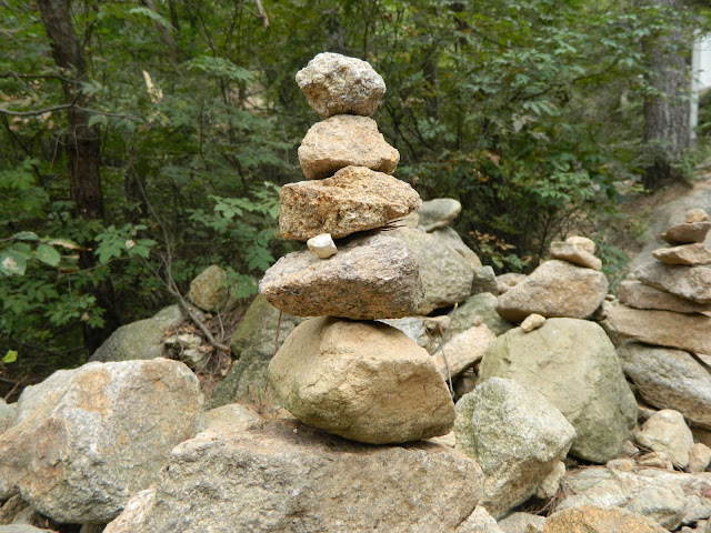 Pagoda-like stacking stones found on Namsan mountain in Gyeongju