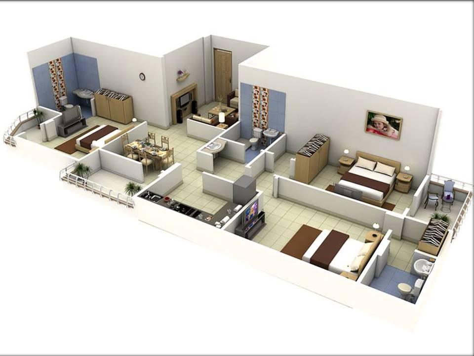 Rectangular apartment building 3D Models - Home Decor