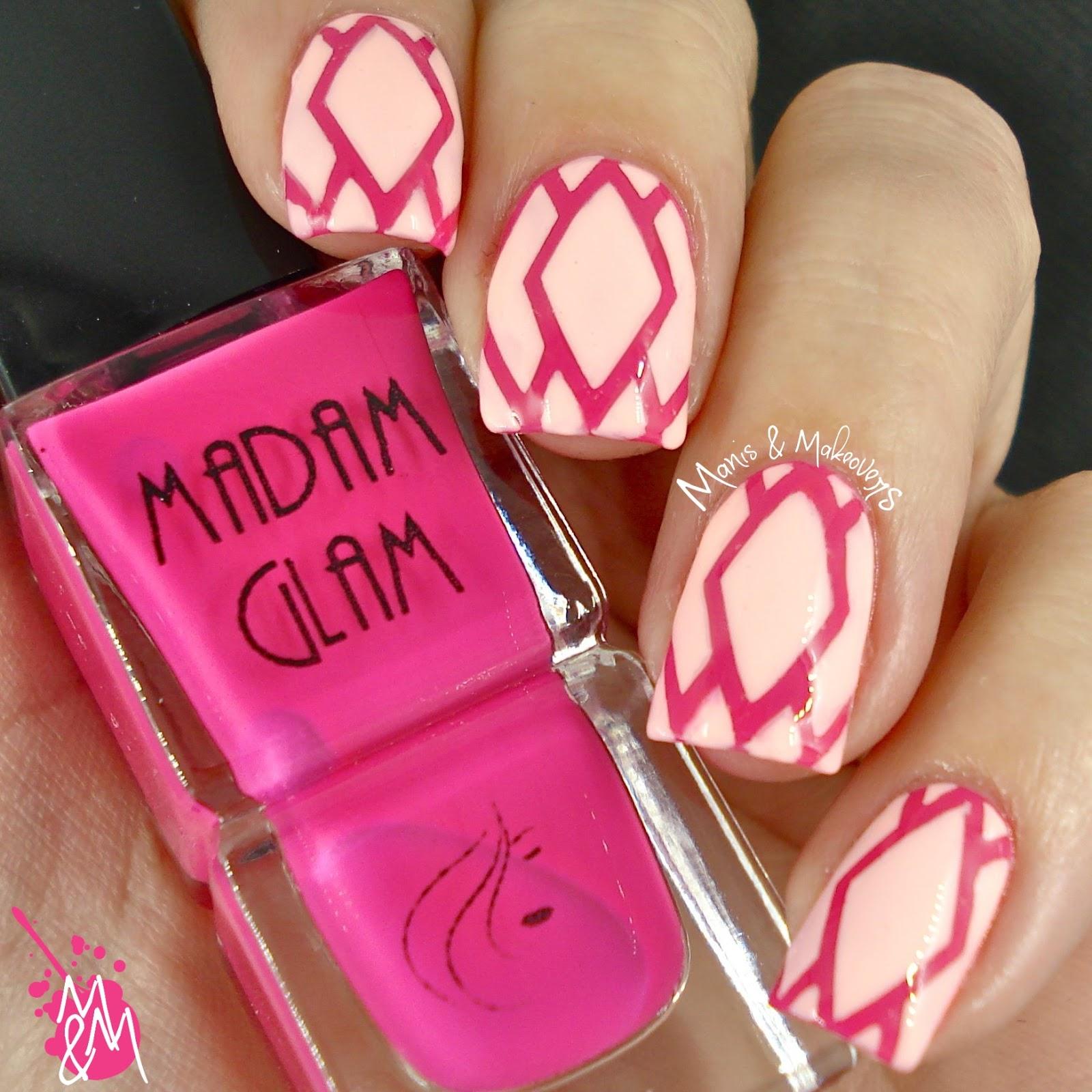 Manis Makeovers Madam Glam Vinyl Quickies Nail Art