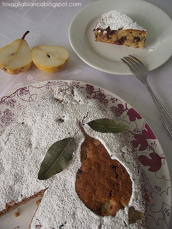 torta con pere e cioccolato