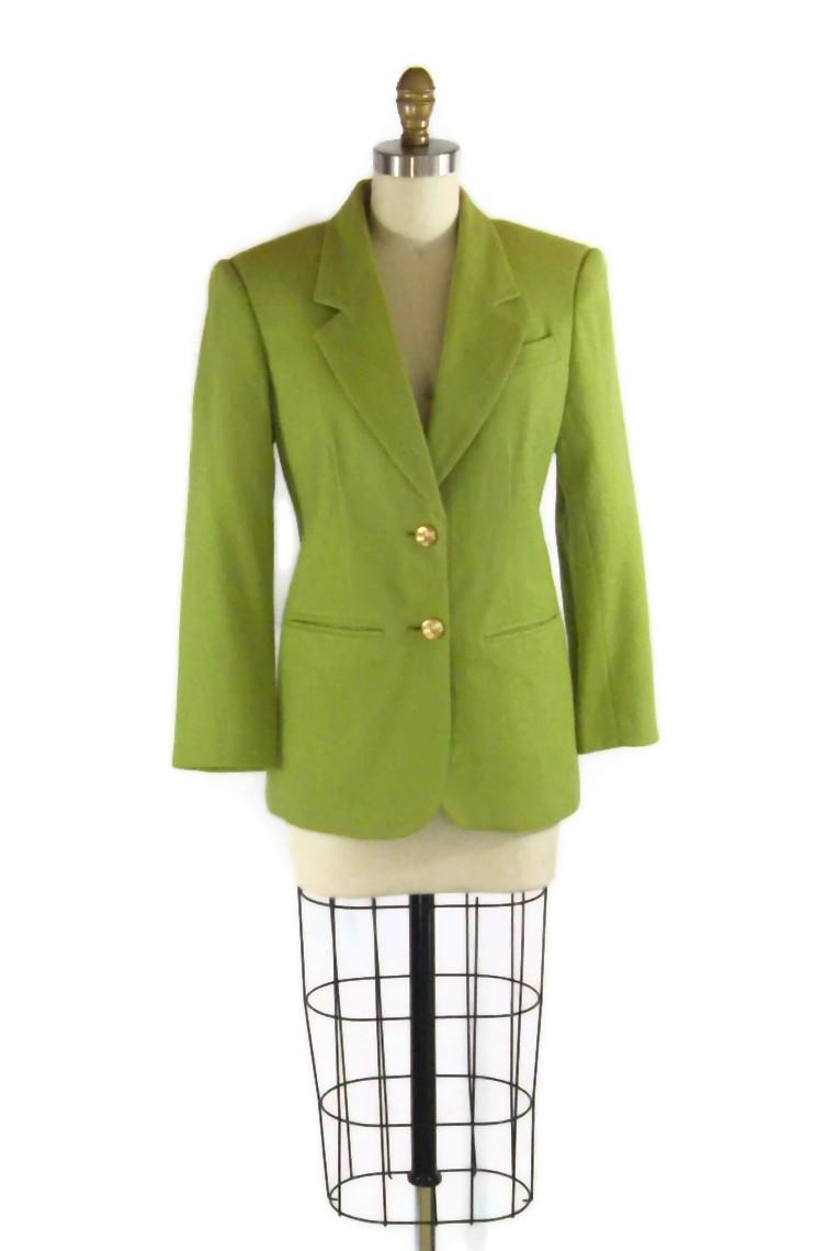 foxburrow vintage chartreuse blazer