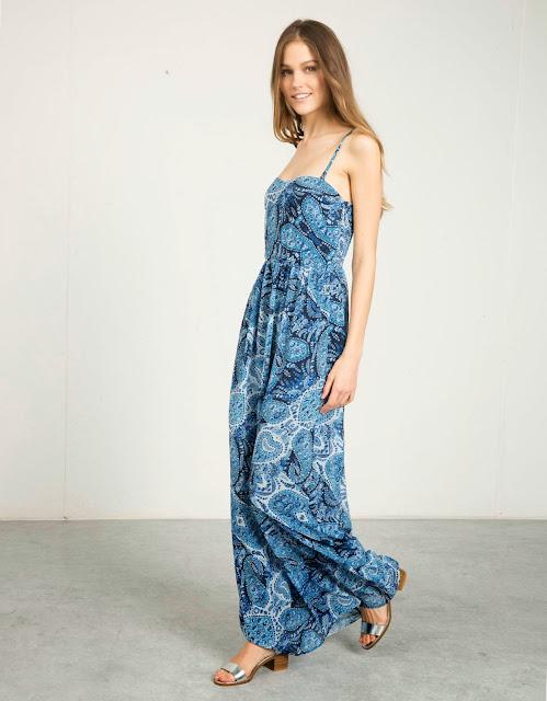vestido largo bershka