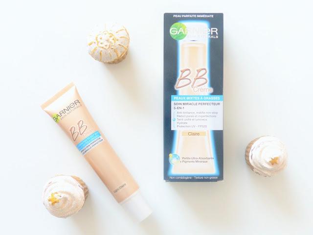 la BB crème Garnier Soin miracle perfecteur 5-en-1 pour peaux mixtes à grasses