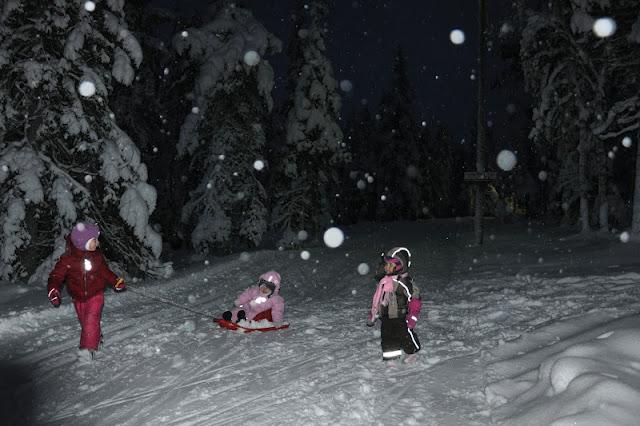 Finnish kids playing outside -50 C