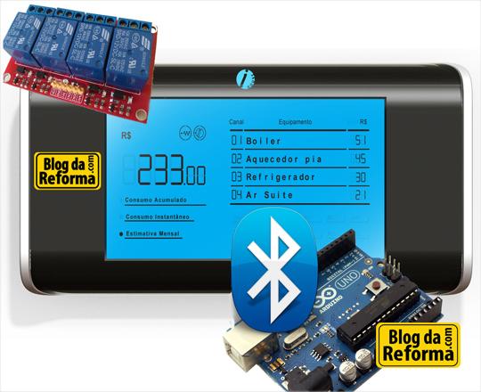 Arduino e display de automação residencial