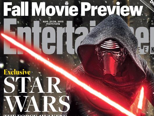 Kylo Ren monopoliza la portada de Entertainment Weekly