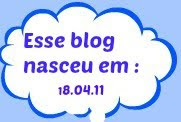 ゚・。.。・゚゚・Esse blog nasceu em 18.04.11