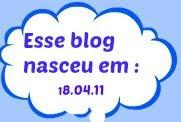 ⛅ Esse blog nasceu em 18.04.11