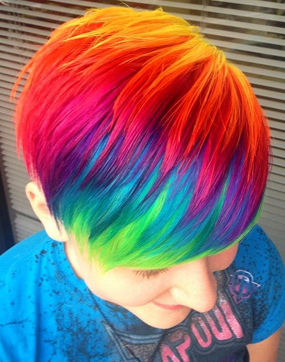 Beautiful Rainbow Hair Styles For Girls World Business