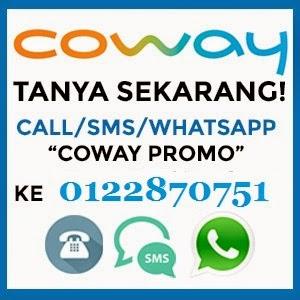 Promosi & Harga Penapis Air Coway 2015