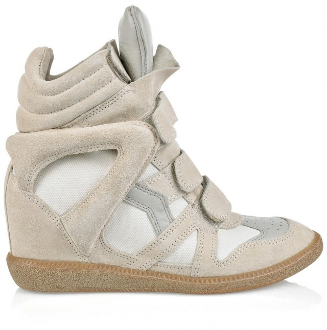 Las mujeres del Real Madrid, inseparables en Múnich Isabel-marant-gray-perkins-suede-and-leather-wedge-sneakers-product-3-215051-464750630_full