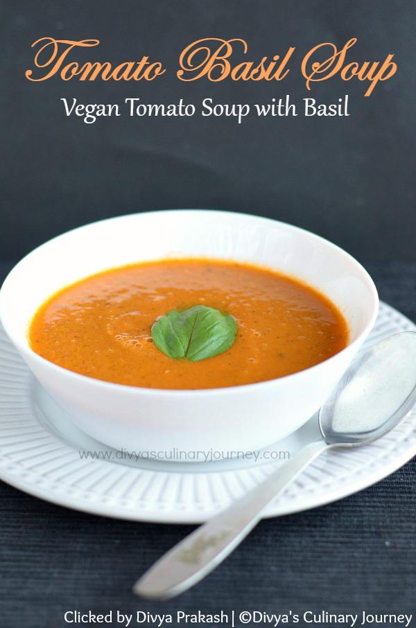 ... journey: Tomato Basil Soup Recipe | Vegan Tomato Soup with Basil
