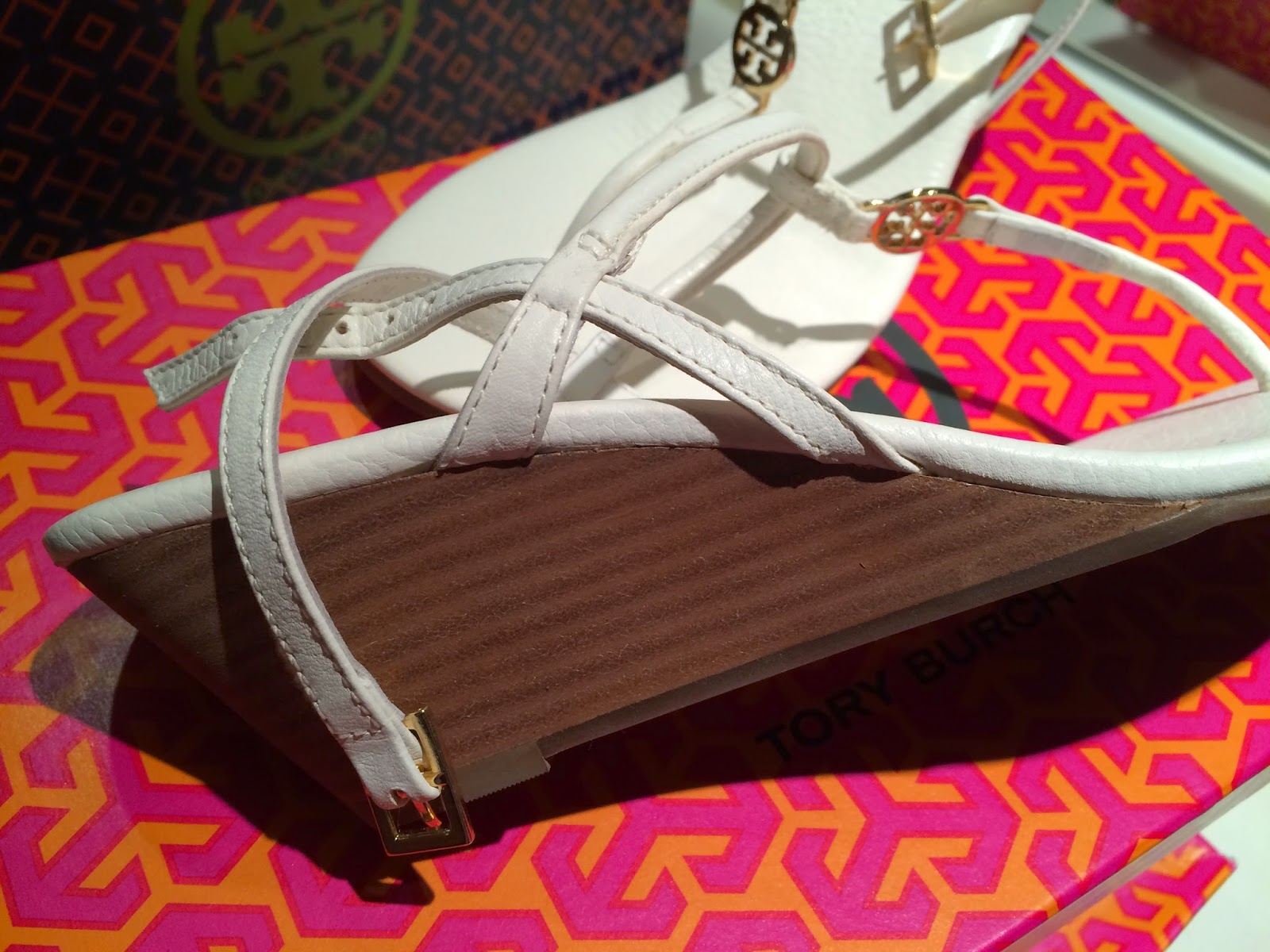 Tory Burch White Emmy Demi Sandals