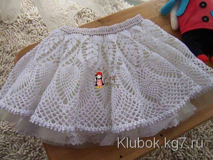 Очень красивая юбочка крючком