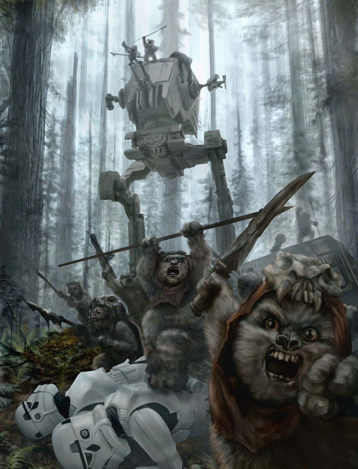 Ewok victory over imperial forces