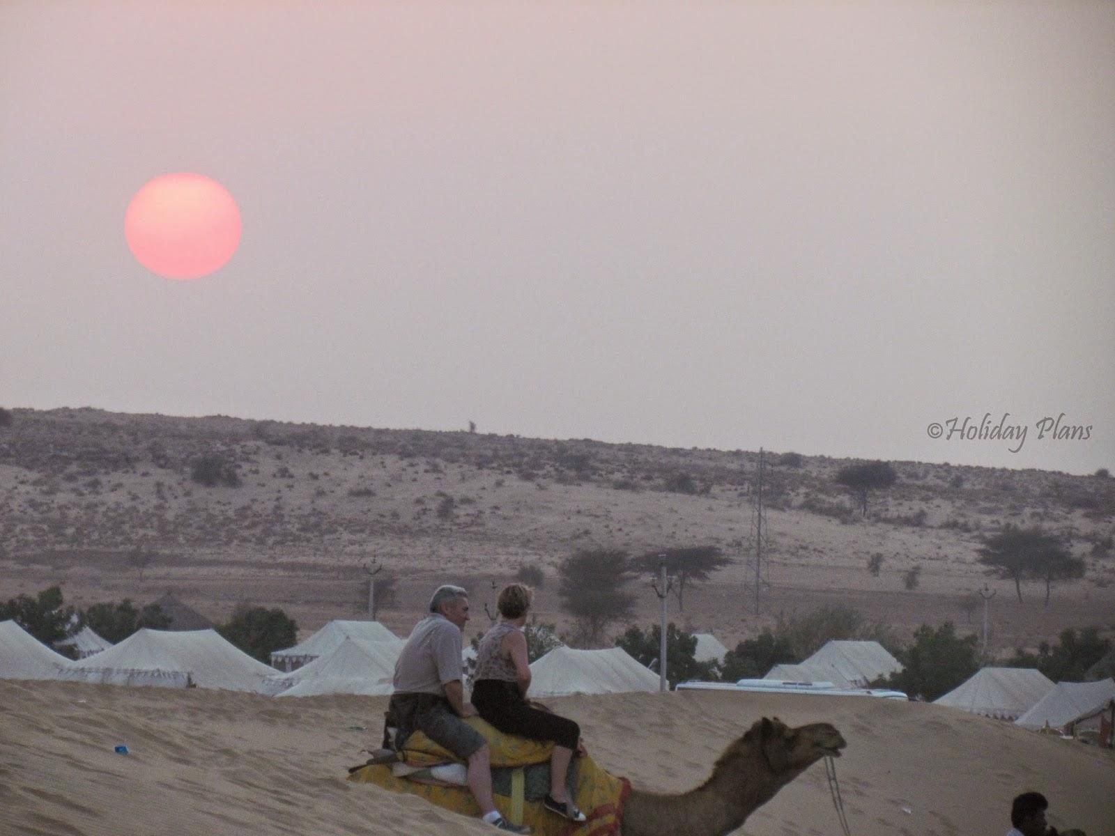 Camel rides around camp