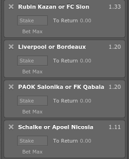 Accumulator tip with odds (2.32), staked 1pt.