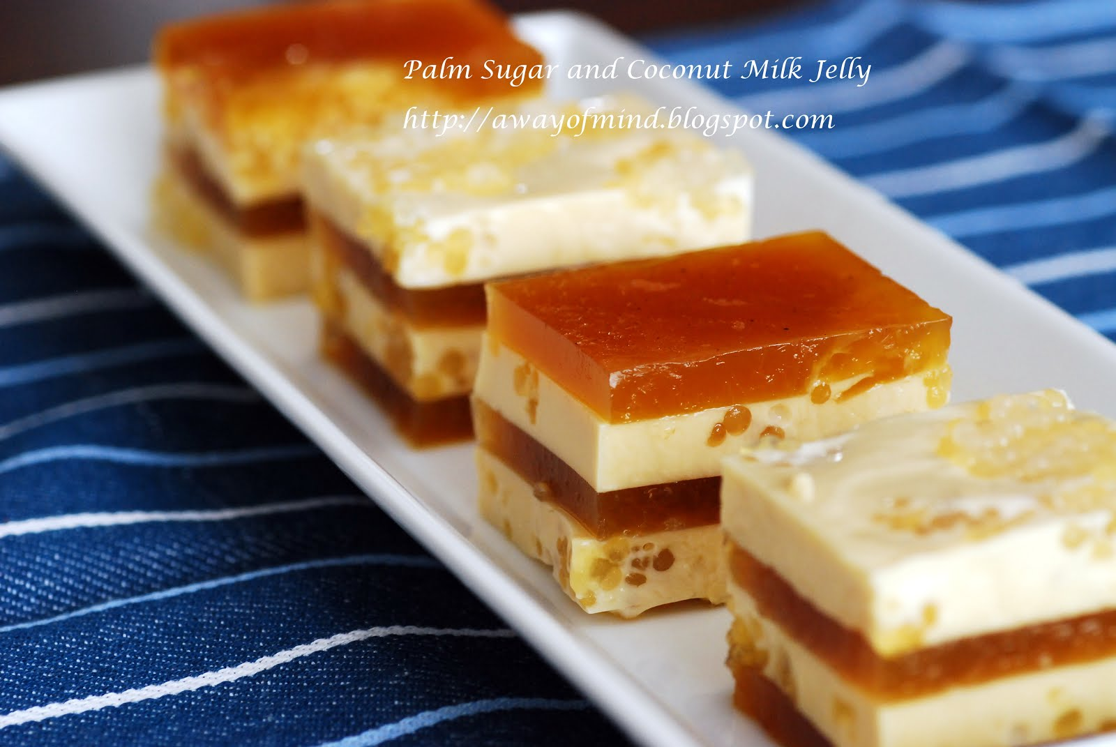 Palm Sugar and Coconut Milk Jelly