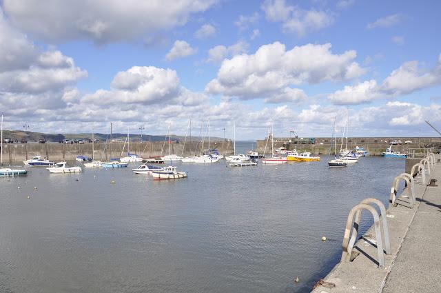 Boats in Saundersfoot harbour
