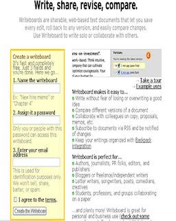 editor de textos online writeboard