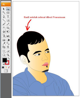 tracing foto dengan illustrator