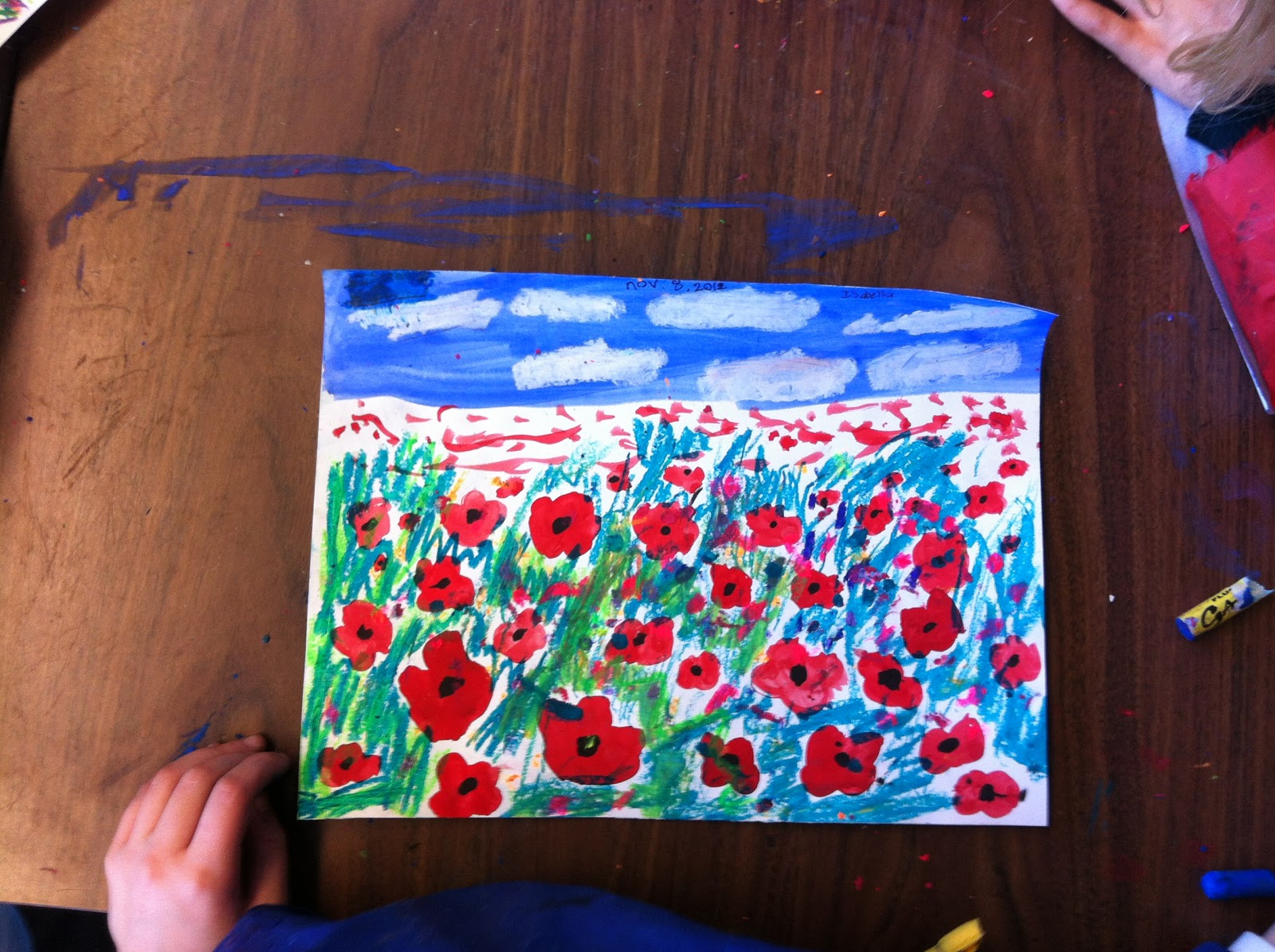art room with a view poppy fields for remembrance day