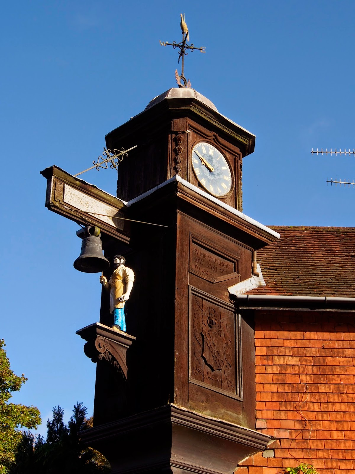Abinger Hammer Clock, Surrey, travel, England, UK