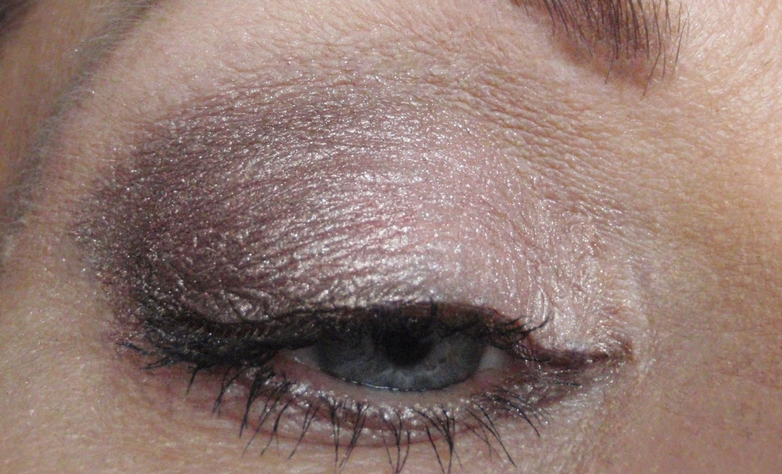 Pink and taupe eye shadow