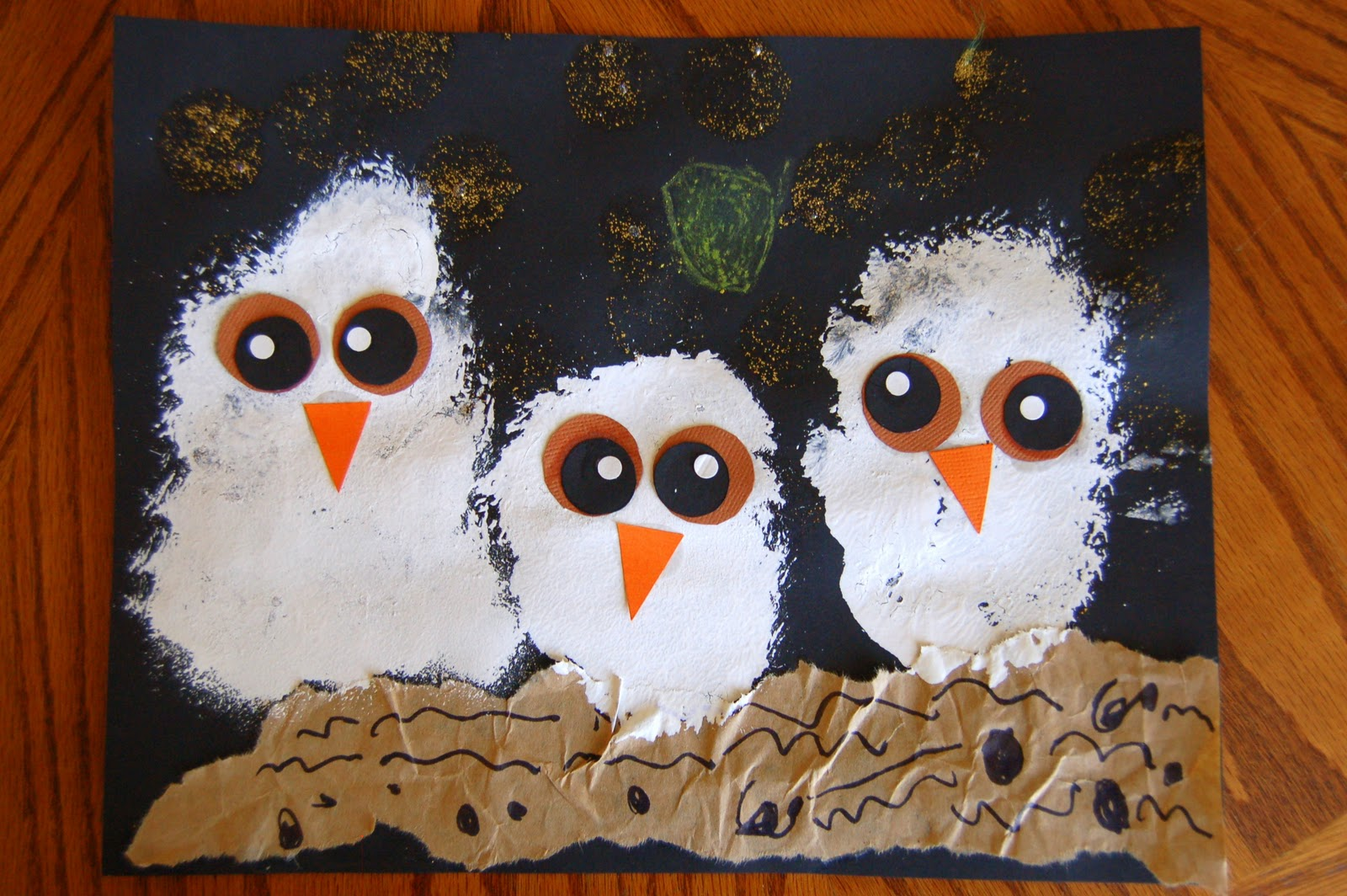 Owl babies craft i heart crafty things for November arts and crafts for daycare