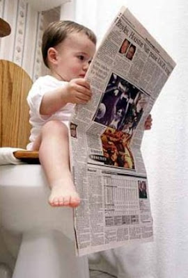 Baby Read Newspaper