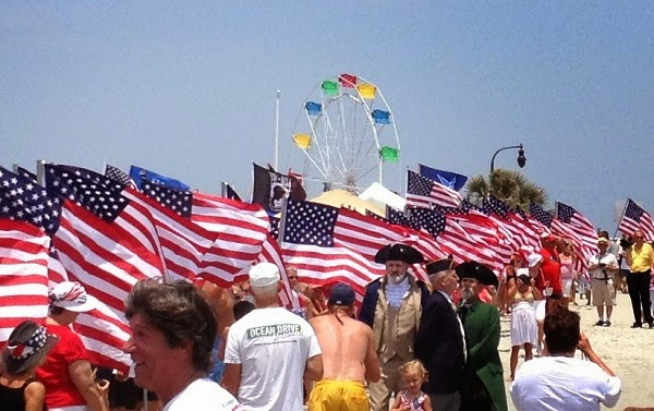 Historical characters on 4th of July in North Myrtle Beach