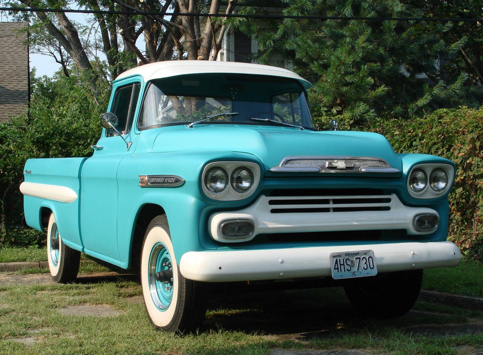 All American Classic Cars: 1959 Chevrolet Apache Fleetside Pickup Truck