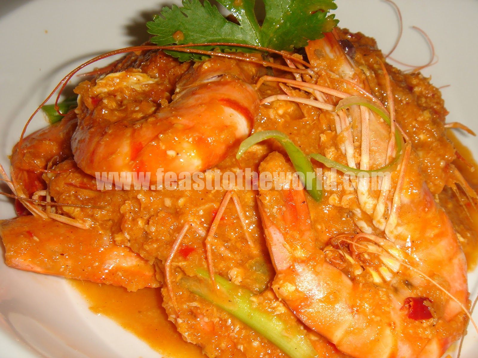 FEAST to the world: A Crab In Disguise - Singapore Chilli Prawns