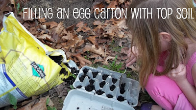 Gardening is the best form of Sensory Play Based Learning How to garden with the kids with egg cartons