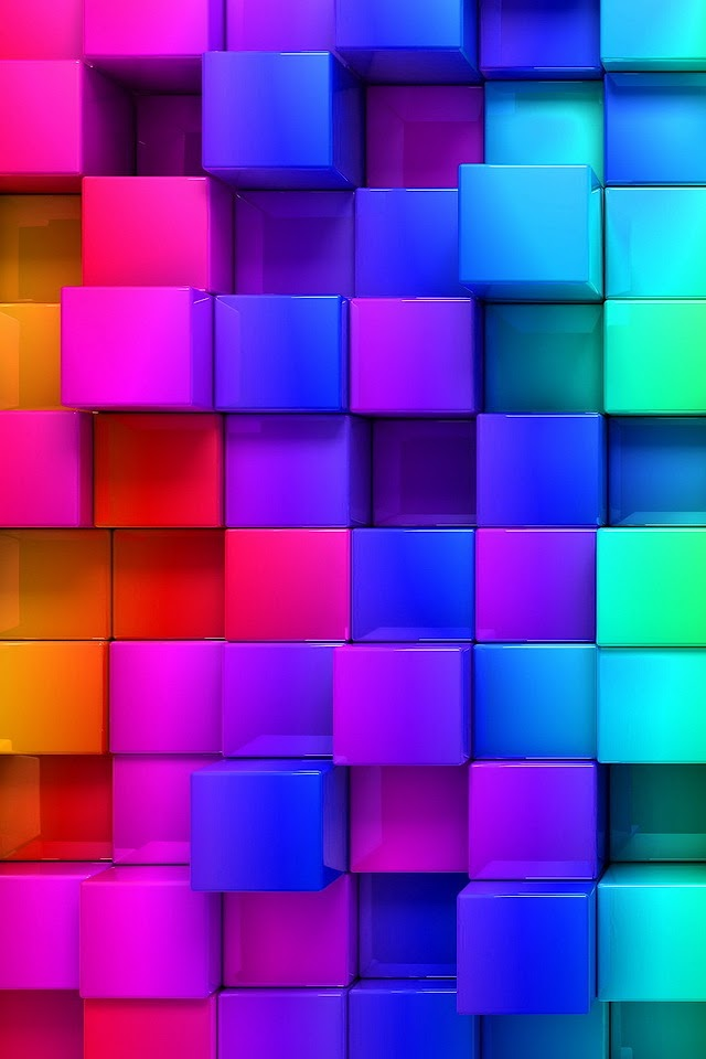 3D Colorful Cubes   Galaxy Note HD Wallpaper