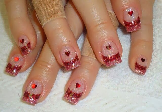 Valentine's Day French Nails