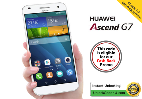 Factory Unlock Code for Huawei Ascend G7