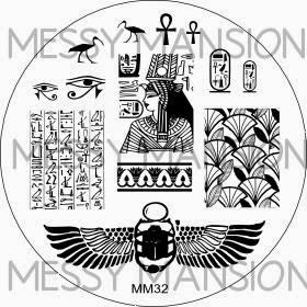 Lacquer Lockdown - Messy Mansion, stamping, new stamping plates 2014, new image plates 2014, new nail art plates 2014, pueen 2014, diy nails, nail art, cute nail art, easy nail art, indie plates, Egyptian nail art, scarab beetles, hieroglyphs,
