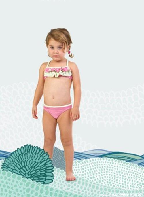 moda verano 2014 trajes de baño infantiles