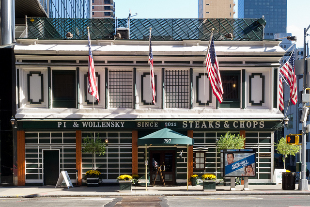 Smith and Wollensky became Pi and Wollensky for another name change when dining in New York