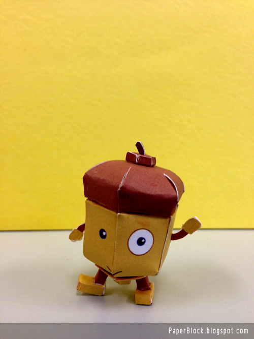 Smarty Bean Acorn Paper Toy