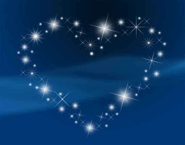 SECRETOS DEL CORAZON: Estrellas en el cielo azul.... 星
