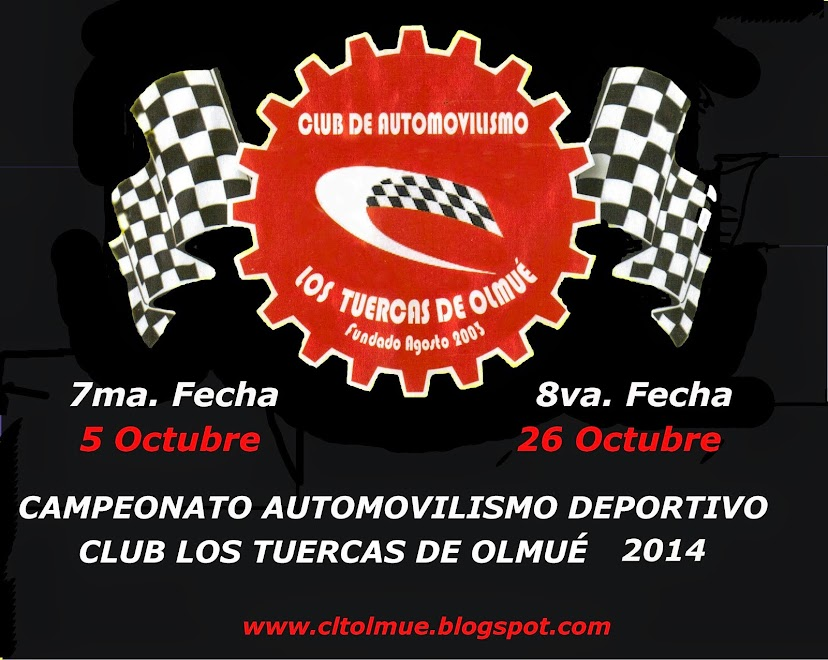 """CLUB AUTOMOVILISMO DEPORTIVO                """" LOS TUERCAS DE OLMUE """""""