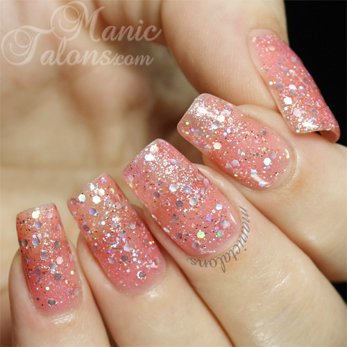 Bundle Monster Gel Polish Twinkle Rose Swatch