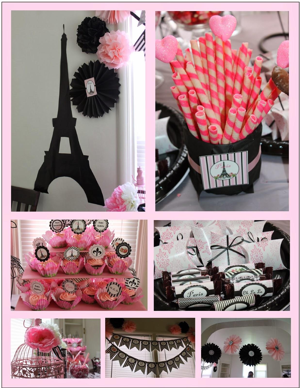 Scrapnteach2 paris themed birthday party - Paris decorating ideas ...