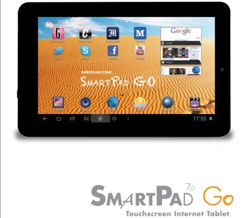 Tablet dual core cortex A9, con jelly bean di fascia bassa di Mediacom