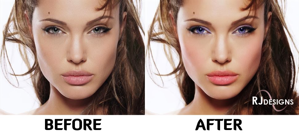 Angelina Jolie Before and After Makeup