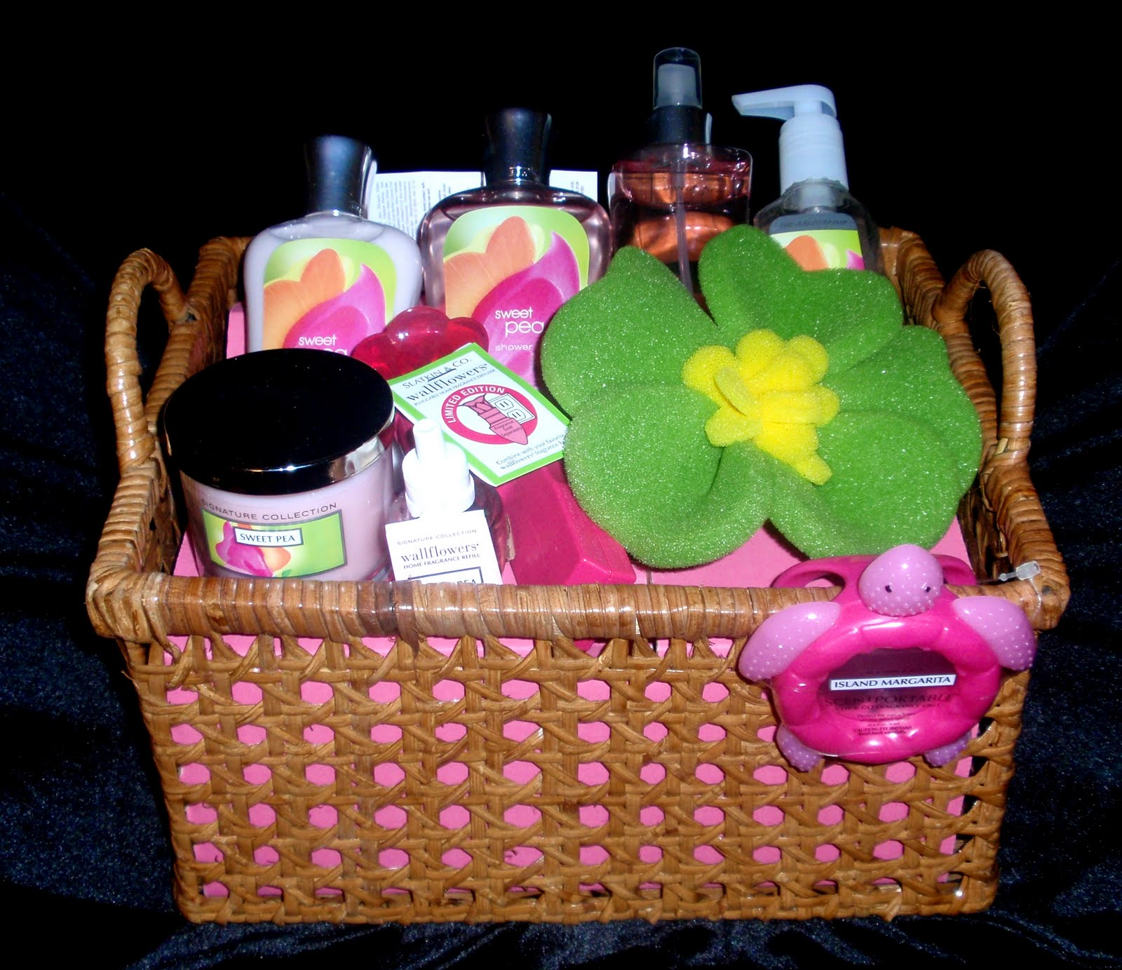 Alexander's Auction: Sweet Pea Gift Basket from Bath and Body Works