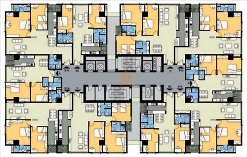 Mặt bằng thiết kế tòa A chung cư 360 Giải Phóng