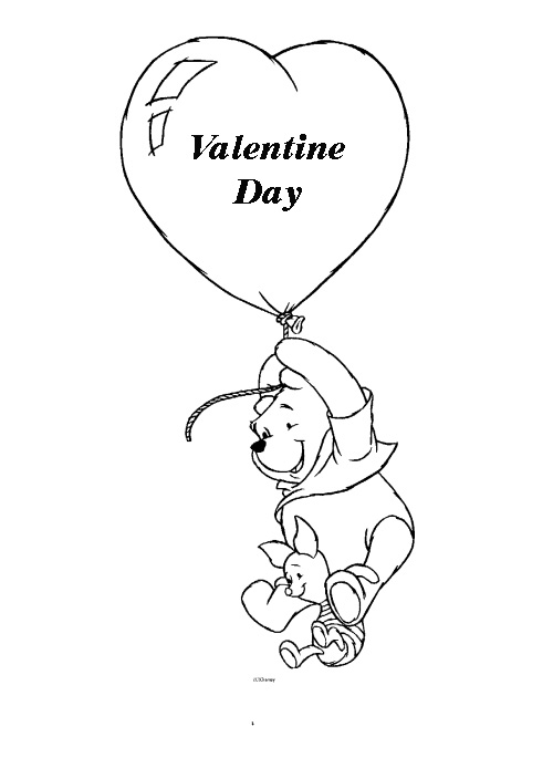pooh valentines coloring pages - photo#6